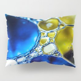 Yellow spotted blue Pillow Sham
