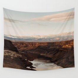 Snake River, Idaho - Scenic Desert Canyon Wall Tapestry
