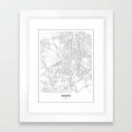 Madrid, Spain Minimalist Map Framed Art Print