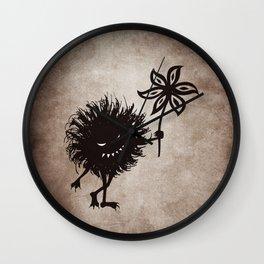 Evil Bug Gives Flower Wall Clock