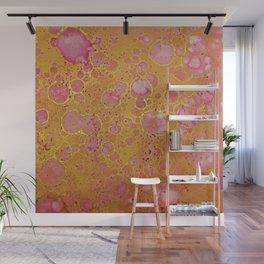 Magenta Gold Mottled Wall Mural