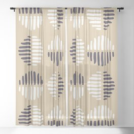 spot block Sheer Curtain