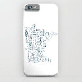 Minnesota Up North Collage iPhone Case