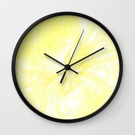 Splatter in Lemonade Wall Clock