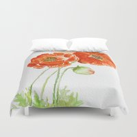 craftberrybush Duvet Covers featuring  Sunday Afternoon - Watercolor by craftberrybush