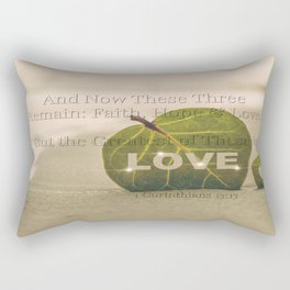 1 Corinthians 13:13 The Greatest is Love Rectangular Pillow
