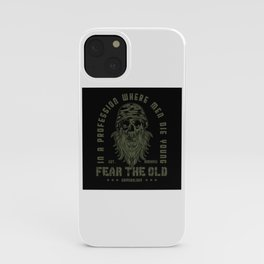 Guns - Fear The Old Man Design Motif iPhone Case