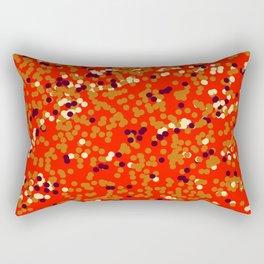 dots on red Rectangular Pillow