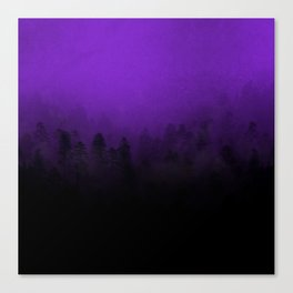 Colour in The Mist - Amethyst Canvas Print