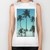 palm trees Biker Tanks featuring Palm Trees by Whitney Retter