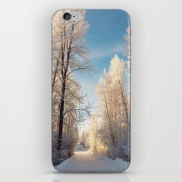 Let There Be Light - Frost Trees in Winter iPhone Skin