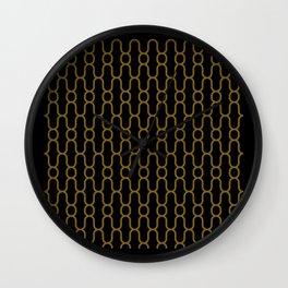 Lowercase x pattern Wall Clock