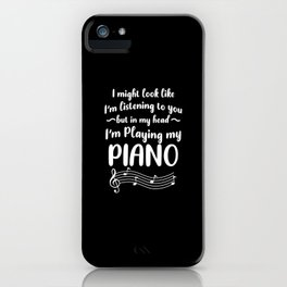 Piano Pianist Clefs Piano Player Gift iPhone Case