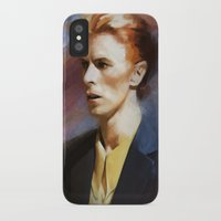 bowie iPhone & iPod Cases featuring Bowie by Cristina Sandia