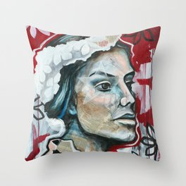 BEAUTY STANDS BOLD Throw Pillow