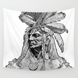 Chief / Vintage illustration redrawn and repurposed Wall Tapestry