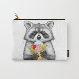 raccoon with ice cream Carry-All Pouch