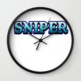 Sniper  internet online game Shooter weapon target gift idea gamer Wall Clock