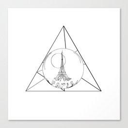 Graphic . geometric shape gray Paris in a bottle Canvas Print