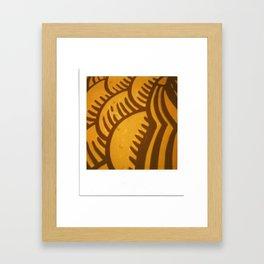 Yellow Orange Print Framed Art Print