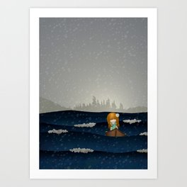 Cicily to The Sea Art Print