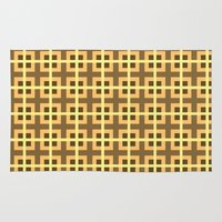 yellow pattern Area & Throw Rugs featuring Pattern Yellow by BobbyK