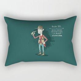 Rule 30 Rectangular Pillow