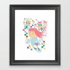 Polypop FlyGirl Framed Art Print