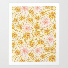 bed of daisies Art Print