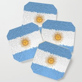 Extruded Flag of Argentina Coaster