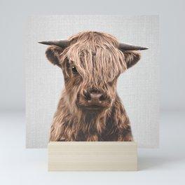 Highland Calf - Colorful Mini Art Print