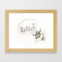 Holla Man Framed Art Print