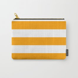 Orange peel - solid color - white stripes pattern Carry-All Pouch