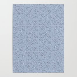 Grey Confetti on Medium Blue Poster