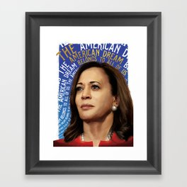 American Dream (Kamala Harris) Framed Art Print