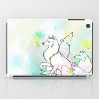 wolves iPad Cases featuring Wolves by Amanda Vieira