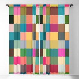 Multicolor Pixel Tiles Art - Kumulipo Blackout Curtain