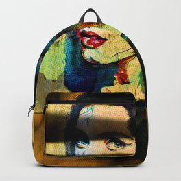 Painted Persephone On Rust Backpack