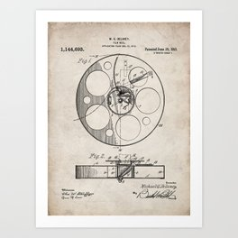 Film Reel Patent - Classic Cinema Art - Antique Art Print