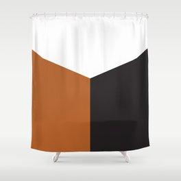 Blocked Rust Shower Curtain