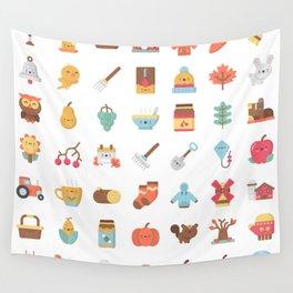 CUTE AUTUMN / FALL PATTERN Wall Tapestry