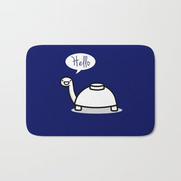 Mine Turtles Says Hello! Bath Mat