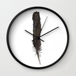 Crow Feather Wall Clock