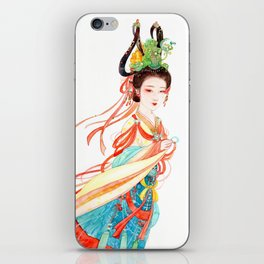 Watercolor Chinese Beauty -  Dunhuang iPhone Skin