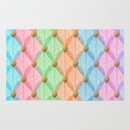 Colored Leaf Skeleton Pattern Rug