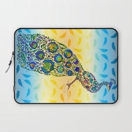 Flowery Peacock Laptop Sleeve