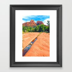 Excerpt From a Day at Red Rock Crossing Framed Art Print