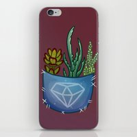 pocket iPhone & iPod Skins featuring Pocket Series: Succulent Pocket by Fourd Simkins