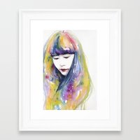 wallet Framed Art Prints featuring lime nights by agnes-cecile