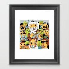 Happy Friends Framed Art Print